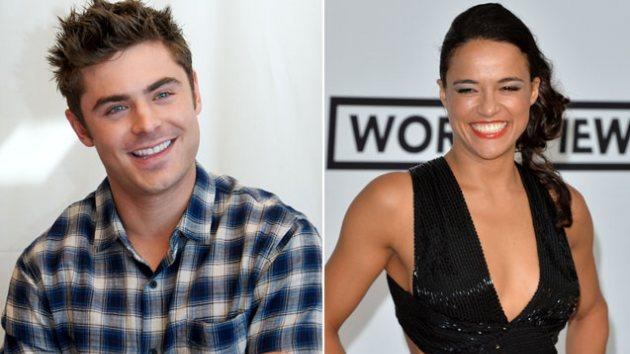 Zac Efron / Michelle Rodriguez -- Getty Images