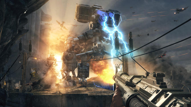 "This photo released by Bethesda Softworks shows a scene from the video game, ""Wolfenstein: The New Order."" (AP Photo/Bethesda Softworks)"