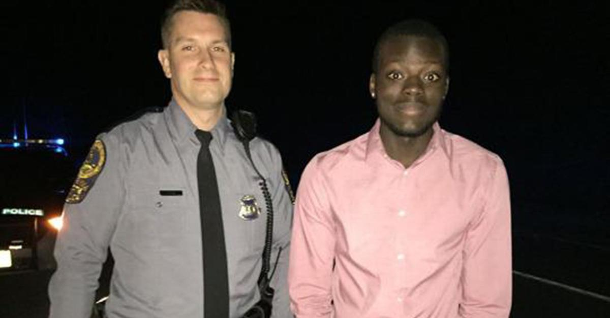 Mom's Facebook Photo of 'Hero' Cop Strikes a Chord