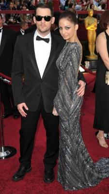 Joel Madden and Nicole Richie make a cute couple at the 82nd Annual Academy Awards at the Kodak Theatre in Hollywood, on March 7, 2010 -- Getty Images