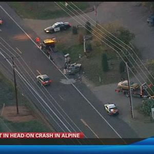 2 hurt in head-on crash in Alpine