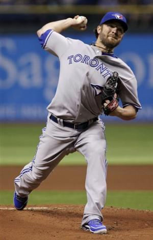 Drabek gets 1st road win, Blue Jays beat Rays 6-2