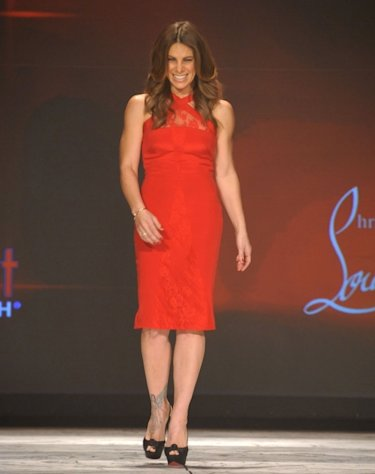 Jillian Michaels wearing Cushne et ochs on the runway during The Heart Truth 2013 Fashion Show held at the Hammerstein Ballroom on February 6, 2013 in New York City  -- Getty Images