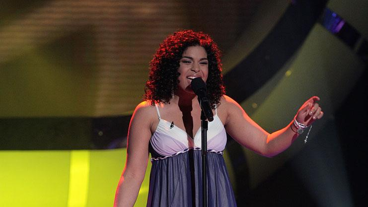 Jordin Sparks performs as one of the top 3 contestants on the 6th season of American Idol.