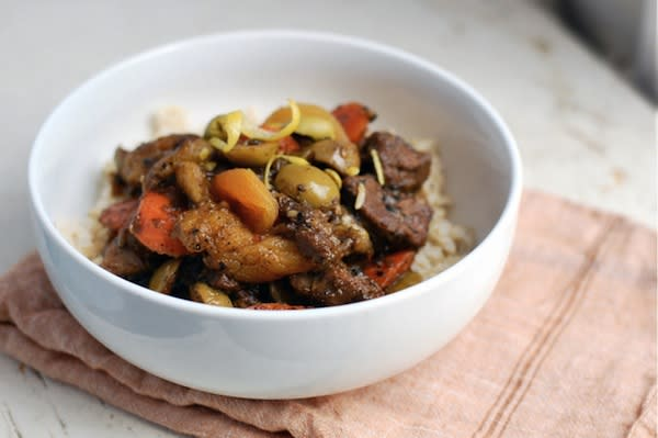 Lamb Tagine with Olives and Apricots