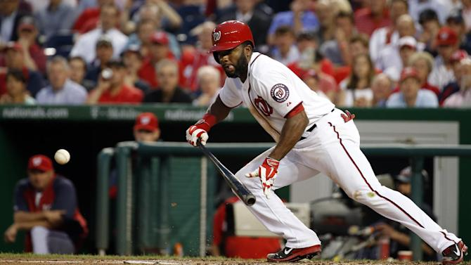 Span, Nationals batter Reds' Cueto in 9-4 win