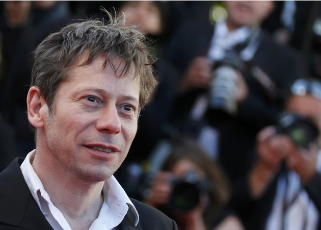 "Cast member Mathieu Amalric arrives for the screening of the film ""La Venus a la Fourrure"" in competition during the 66th Cannes Film Festival"