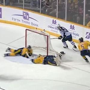 Ryan Ellis makes insane diving goal line save