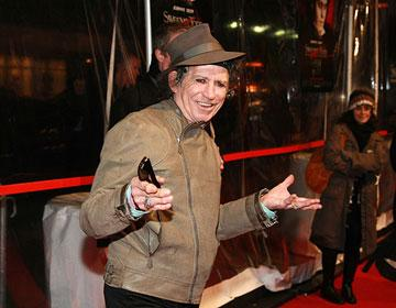 Keith Richards at the New York City premiere of DreamWorks Pictures' Sweeney Todd: The Demon Barber of Fleet Street