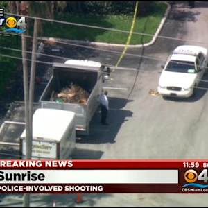 Police Investigating Officer Involved Shooting In Sunrise