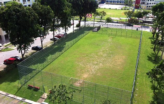 The proposed site of a new elderly facility in Bishan street 13 is surrounded by four HDB flats and a school. (Yahoo! photo)