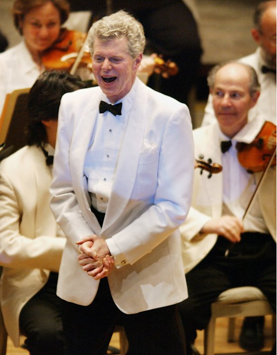 "FILE - This July 12, 2003 file photo shows pianist Van Cliburn after performing with the  Boston Symphony Orchestra as the Orchestra plays ""Happy Birthday,"" on his 69th birthday at Tanglewood in Lenox"
