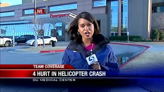 4 hurt in helicopter crash are stable