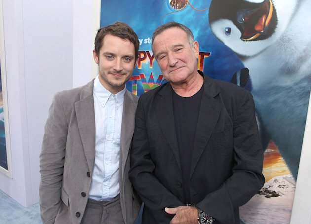 Happy Feet Two LA Premiere 2011 Robin Williams Elijah Wood