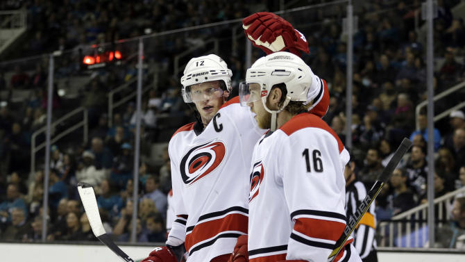 Sekera leads Hurricanes past Sharks