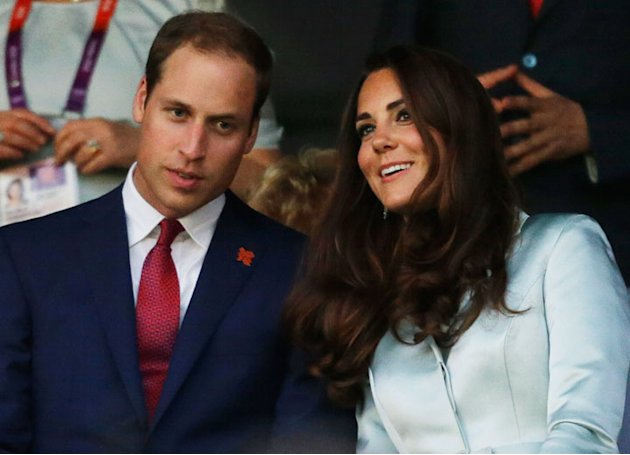 Britain's Catherine, Duchess of Cambridge, and Britain's Prince William, the Duke of Cambridge attend the Opening Ceremony at the 2012 Summer Olympics, Friday, July 27, 2012, in London. (AP Photo/Davi