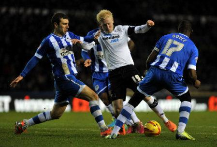 Soccer - Sky Bet Championship - Derby County v Wigan Athletic - iPro Stadium