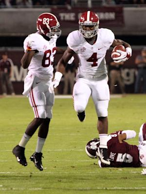 No. 1 Alabama unhappy with play, even in win