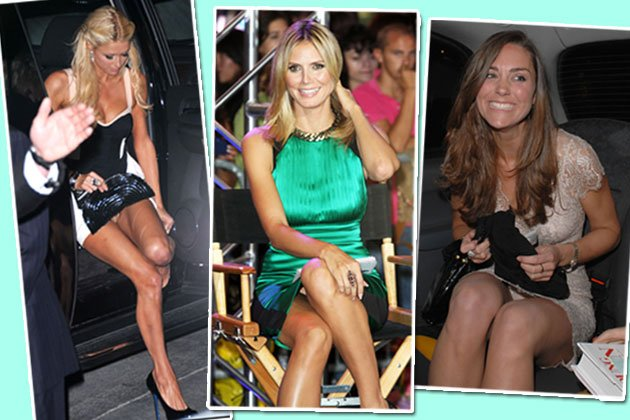 Slip, Slip, Hurra! Paris Hilton, Heidi Klum und Kate Middleton lassen's blitzen (Bilder: action press, splash)