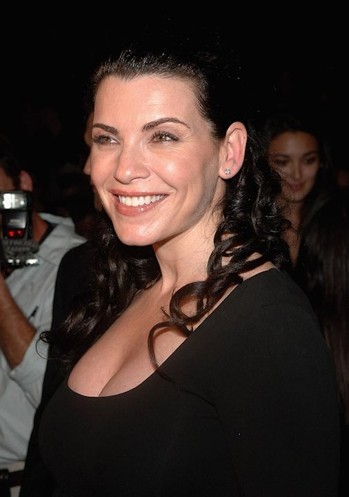 Julianna Margulies at the Narciso Rodriguez Spring 2008 Mercedes-Benz Fashion Show in New York City.