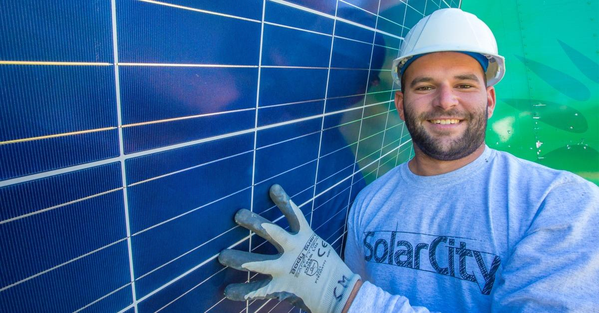 We install a solar system at no charge.