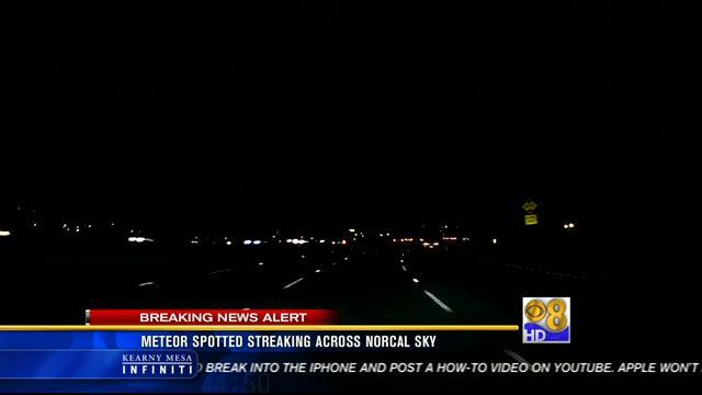 Bright streak of light reported over Calif.