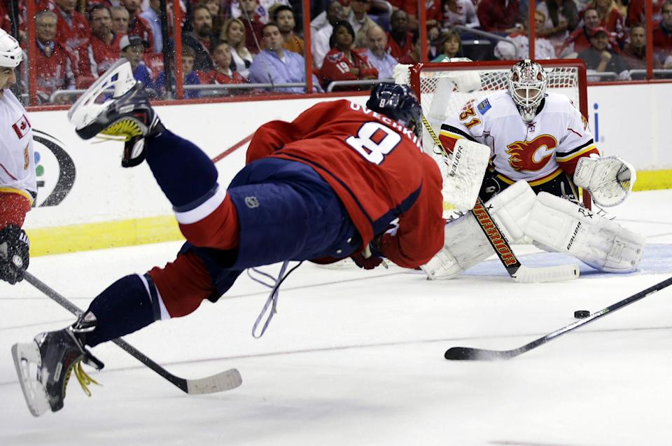 Capitals rally to top Flames in shootout