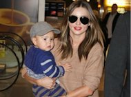 Miranda Kerr And Baby Flynn Land In Sydney