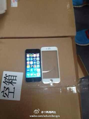Leaked photo shows iPhone 6 front panel side-by-side with iPhone 5