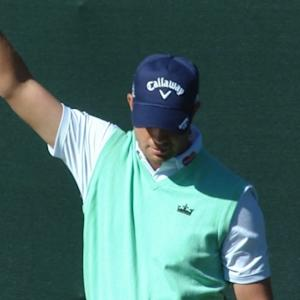Harris English chips in for birdie on No. 16 at Waste Management