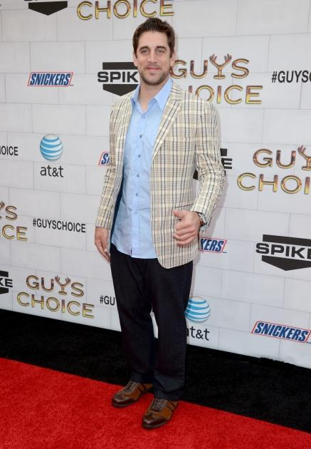 Aaron Rodgers arrives at Spike TV's 6th Annual 'Guys Choice Awards' at Sony Pictures Studios in Culver City, Calif., on June 2, 2012 -- Getty Images