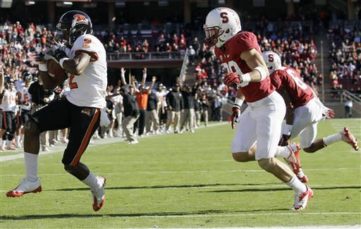 No. 16 Stanford knocks off Oregon State 27-23