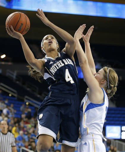 Loyd leads Irish women past Bruins, 76-64