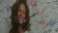 Fans honor Whitney Houston ahead of funeral.