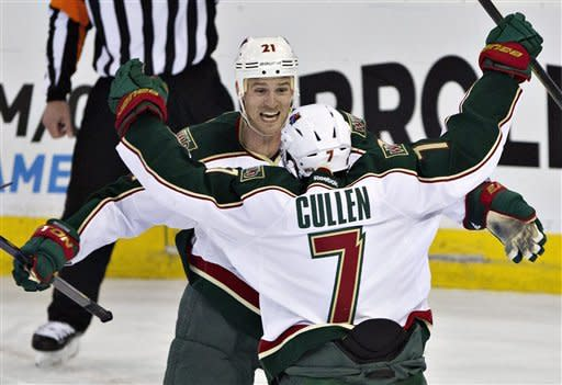 Cullen's 2 goals lift Wild over Oilers 3-1