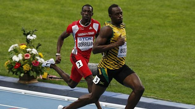 Usain Bolt eases into Men's 100m semi-finals at World Championships in Mosco (Reuters)