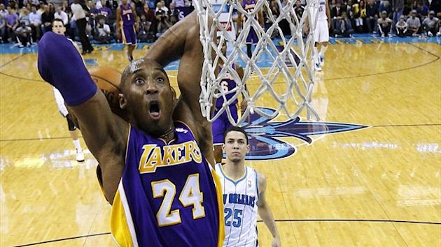 LA Lakers&#39; Kobe Bryant on his way to reaching 30,000 career points against the New Orleans Hornets (Reuters)