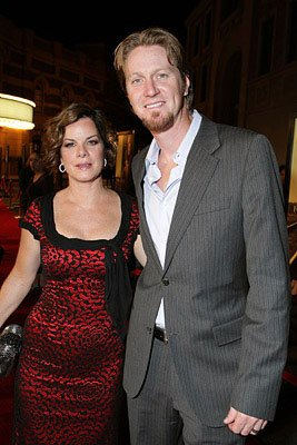 Marcia Gay Harden and husband at the Los Angeles premiere of Warner Bros. Pictures' Rails & Ties