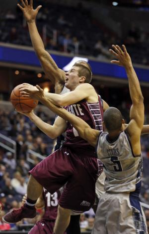 Georgetown holds off Colgate 61-55