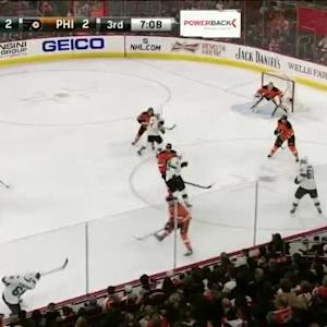 Steve Mason Save on Joe Pavelski (12:55/3rd)