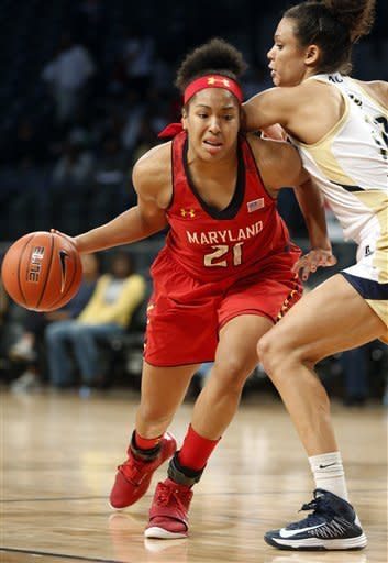 No. 10 Maryland women overpower Georgia Tech 66-57