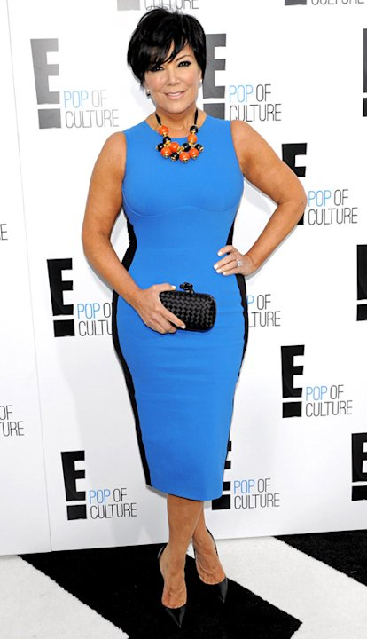 Kris Jenner, 56, Looks Slim in Stella McCartney Miracle Dress