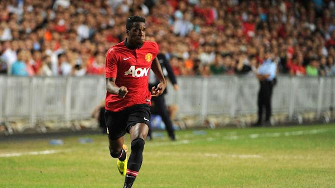 Manchester United striker Wilfried Zaha during a football friendly match in Hong Kong on July 29, 2013