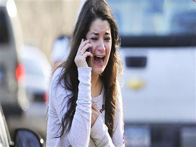 Images of Grief at Conn. School Shooting