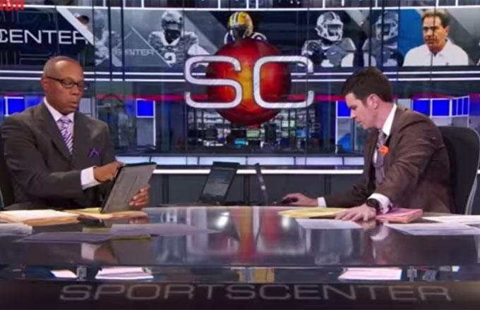ESPN Cuts Off Clemson HC's Postgame Speech, Gives Awkward Live Look-In of SportsCenter Anchors, Makes People Mad