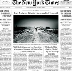 New York Times front page on Iraq