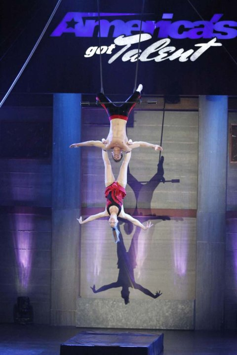 "Duo Aero (trapeze duo) is one of the Top 48 acts on Season 6 of ""America's Got Talent."""