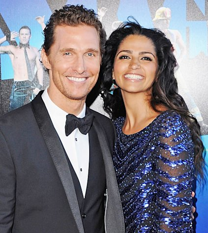 Matthew McConaughey and Camila Alves Welcome Baby No.3, Ashton Kutcher and Mila Kunis Spend Christmas in Iowa: Today&#39;s Top Stories