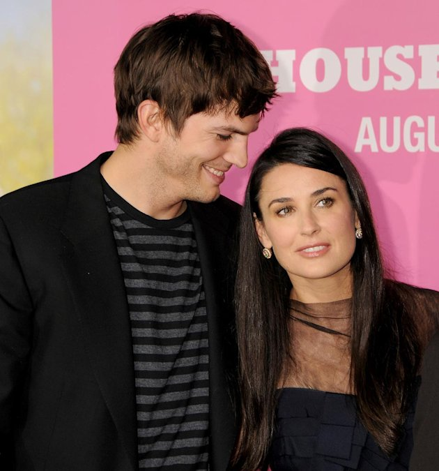 House Bunny LA Premiere 2008 Ashton Kutcher Demi Moore