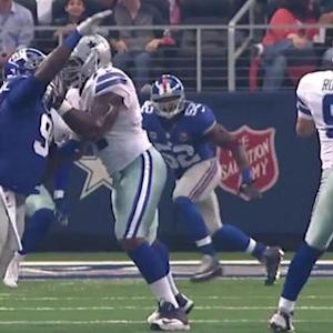 Dallas Cowboys quarterback Tony Romo 15-yard touchdown pass